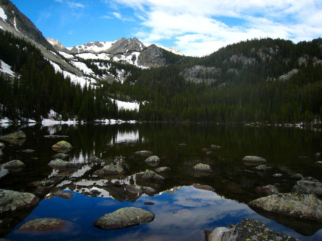 Lake at 8,680 feet, just below Ram Lake