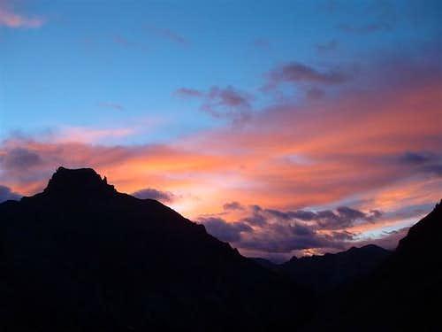 Sunrise over Potosi Peak,...
