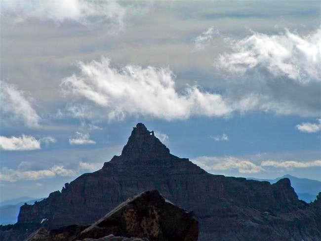 Teakettle Mountain, seen on a...