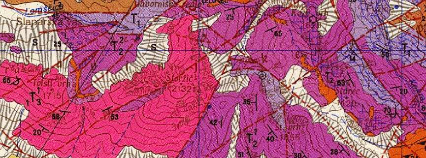 Geological map of Storzic
