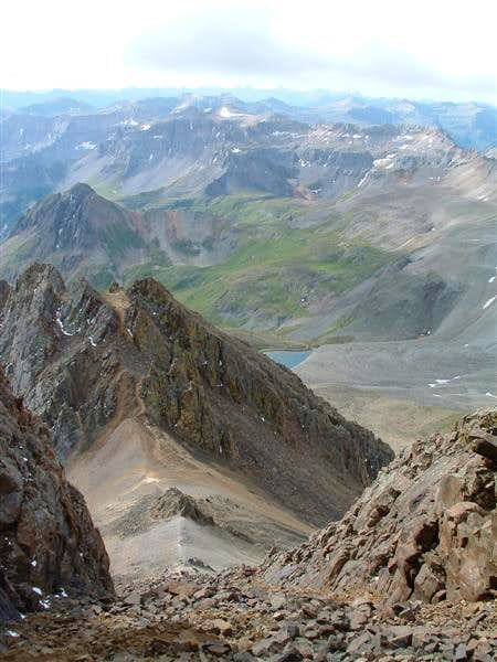 Yankee Boy Basin, with the...