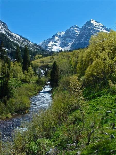 Maroon Creek, flowing down...
