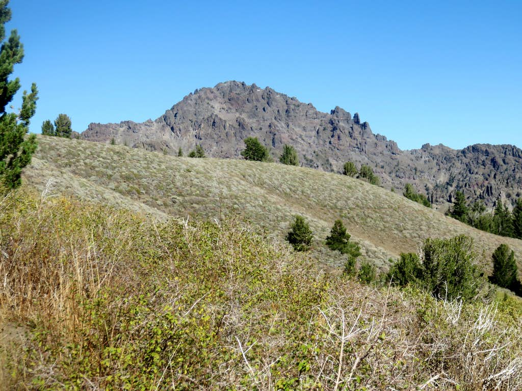 Raymond Peak shows itself from the PCT