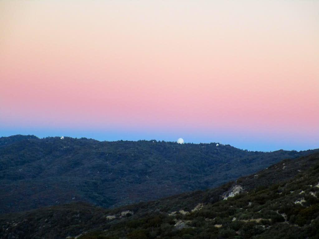 Sunrise over observatory