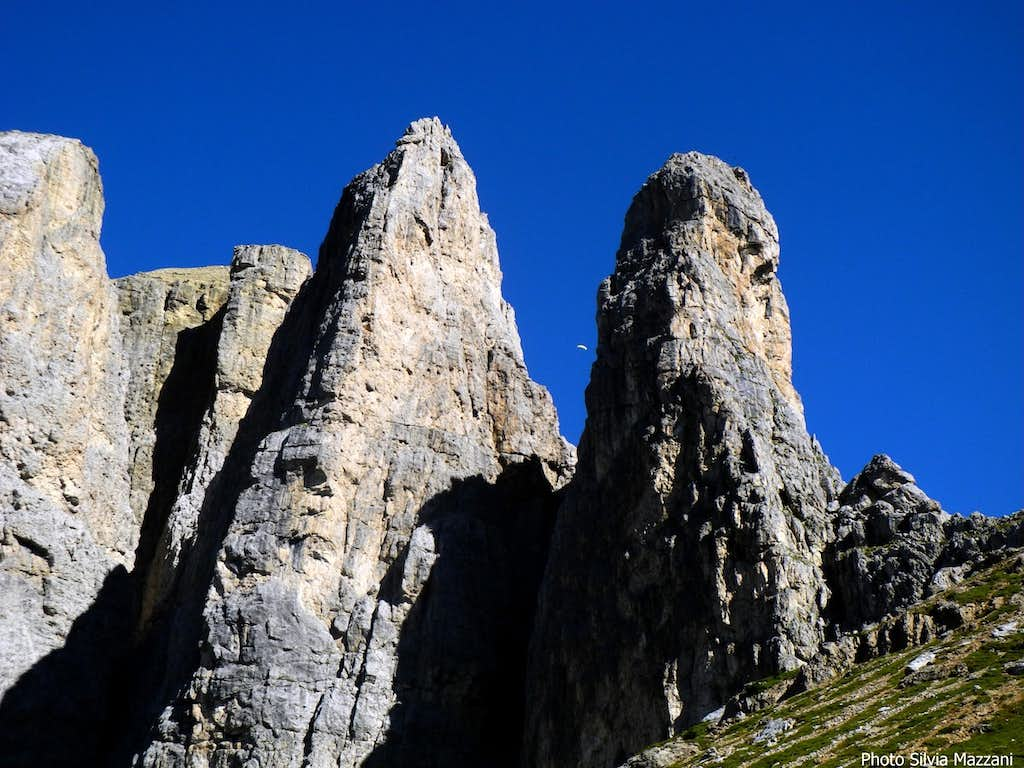 Detail of Second and First Sella Towers