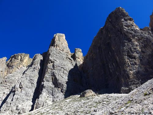 II Torre di Sella North Face from the approach