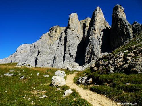 Torri del Sella, approach path n. 649