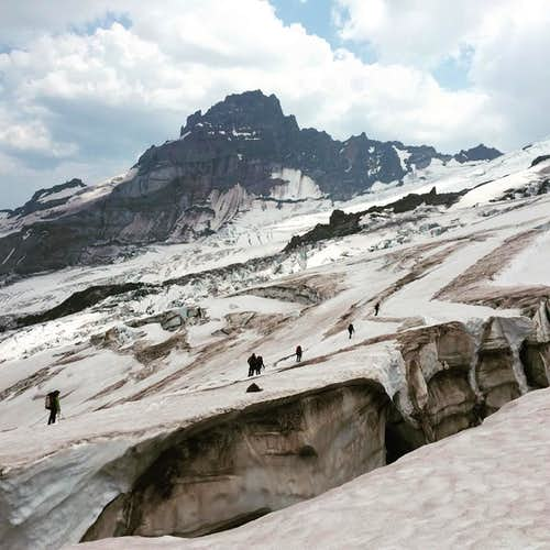 Emmons Glacier on Mt. Rainier