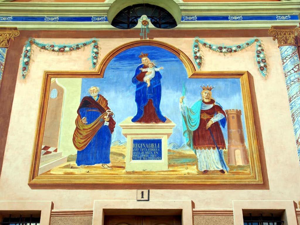 (Valgrisa/La Thuile) / D-2 La Ravoire Chapel fresco 2015