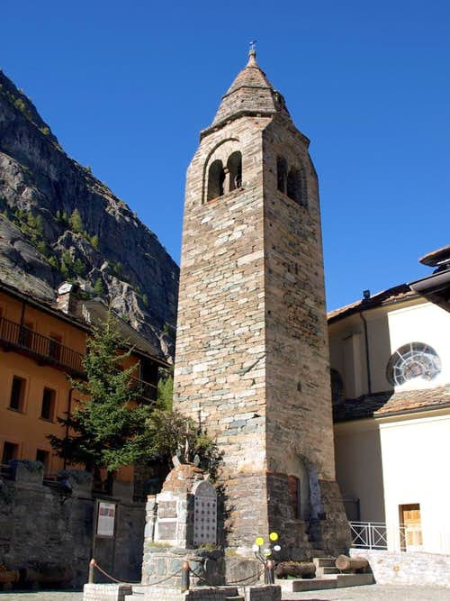 Valgrisenche Church and XIV° Century Steeple 2015