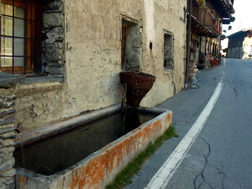 (Valgrisenche)  Fountain in Bonne above Village 2015