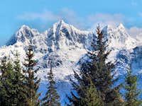 peaks above