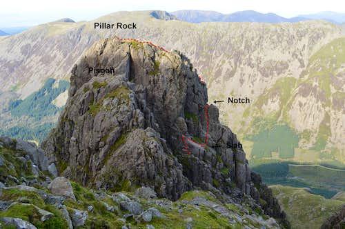 Pillar Rock from south