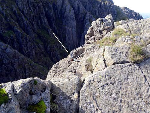 Abseil point Pillar Rock