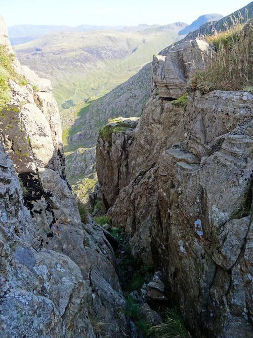 Near summit of Pillar Rock