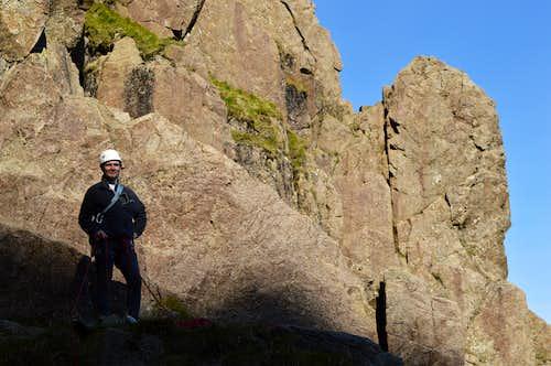 The start Slab & Notch Pillar Rock