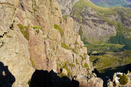 Slab & Notch Pillar Rock from the top of Pisgah
