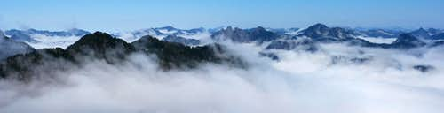 Alpine Lakes Peaks in the Clouds