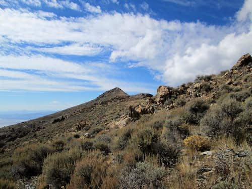 Summit of Granite Peak ahead