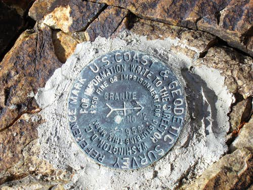 Granite Peak Witness marker