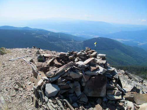 crutches & the summit cairn