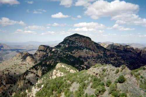 A view of Atascosa Peak.