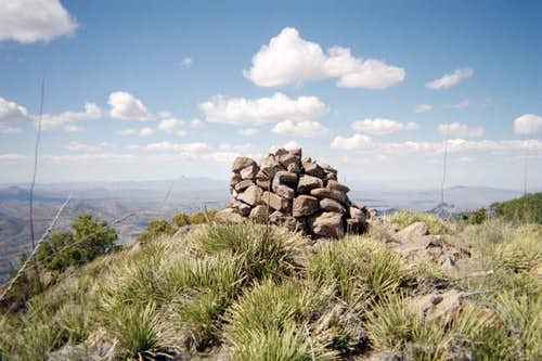 The rock cairn on the summit...