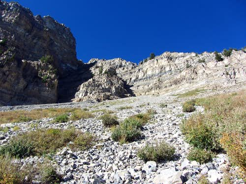 Scree slope below North Timpanogos