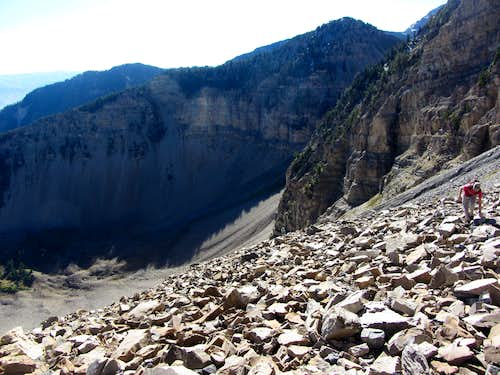Talus field below North Timp ledge