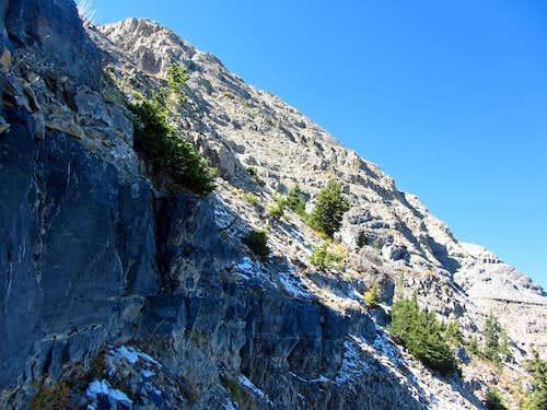 Steep northeast ridge