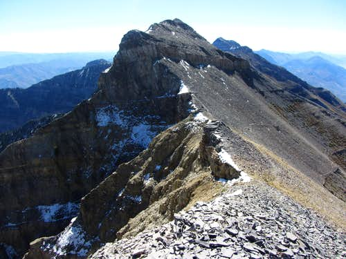 North Timp from false summit