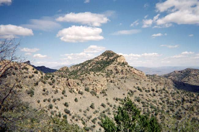 A view of Ramanote Peak in...