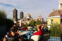 Rooftop cafe at the Museo Amparo