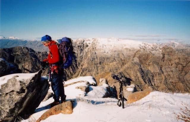 Waaihoek Peak seen in winter...