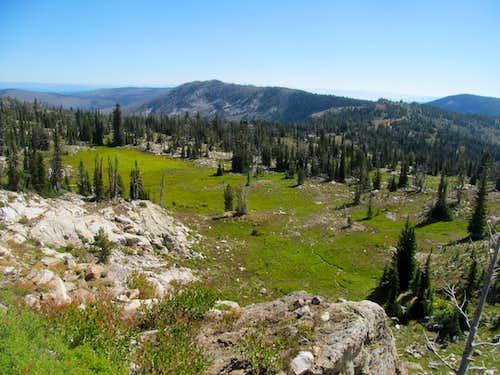 a small meadow below Buffalo Hump's ridge