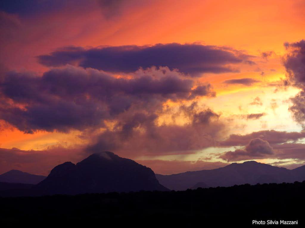 Supramonte sundown, Sardinia
