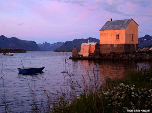 Kvalnes sunset, Lofoten