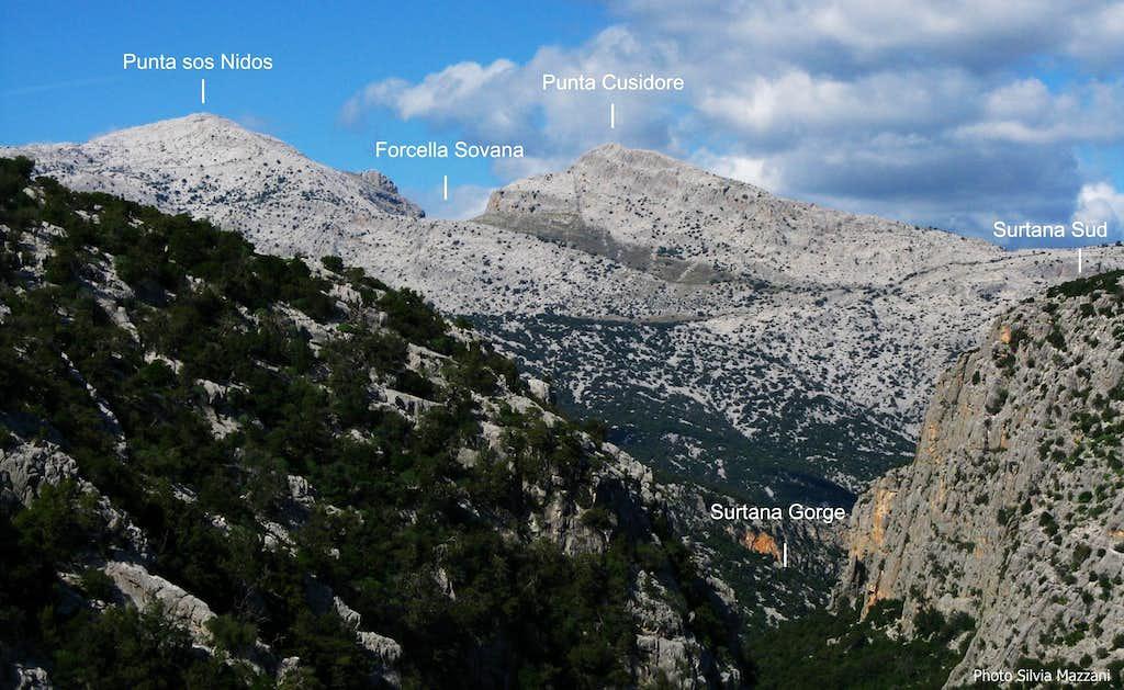Supramonte annotated panorama