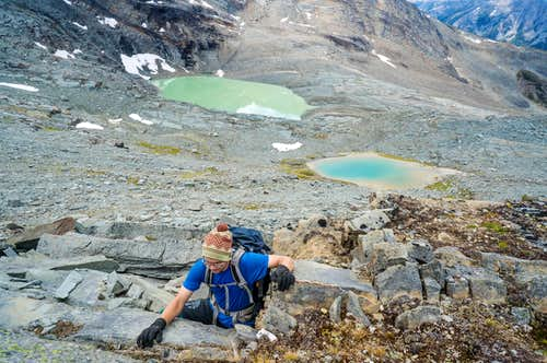 Offtrail expedition in the Cariboo Mountains