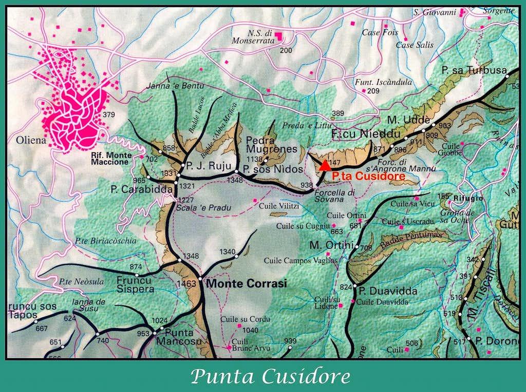Punta Cusidore map