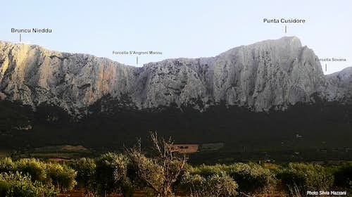 Cusidore West face annotated panorama
