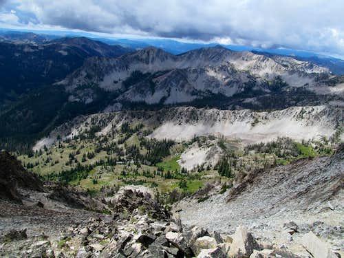 Ross Peak over surreal basin