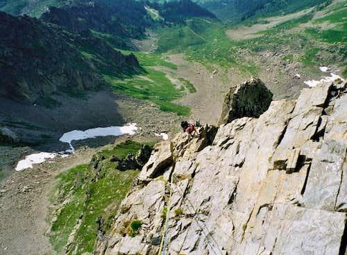 Easy slabs on the SE ridge of...