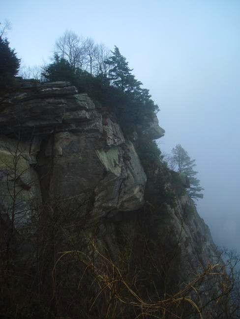 A winter view of the cliffs...