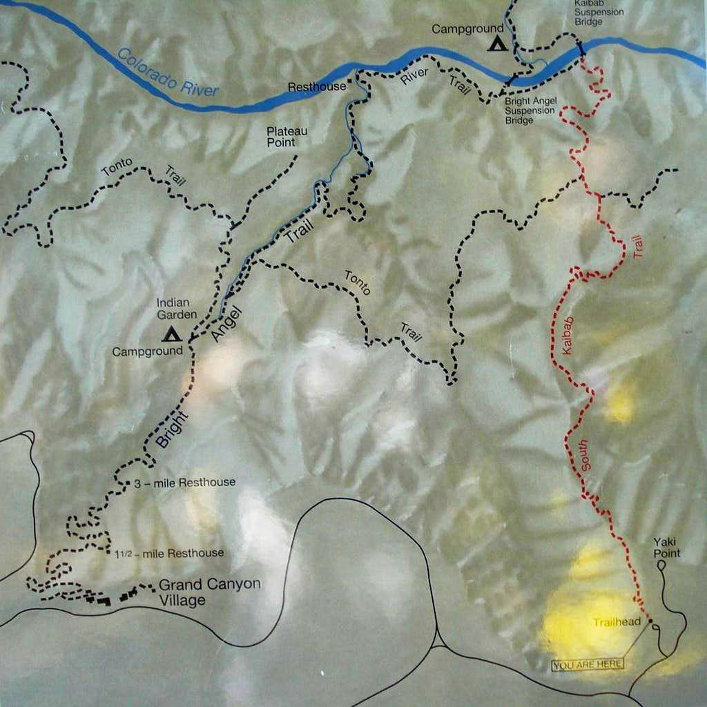 South Kaibab Map