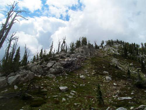 rocks en route to Log summit
