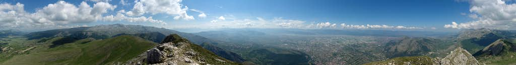 360° summit panorama Serra di Celano