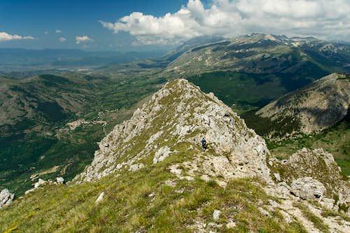 Serra di Celano west summit