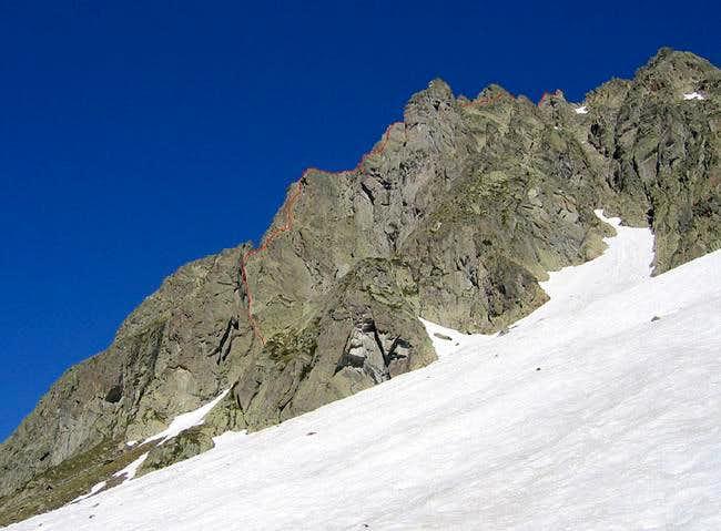 Begining of the south ridge...