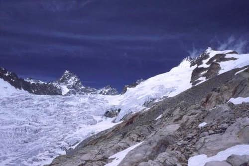 From left to right, Aiguille...